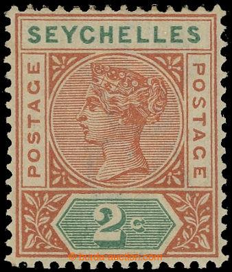 225404 - 1900 SG.28a, Viktorie 2C oranžově hnědá / zelená s DV -