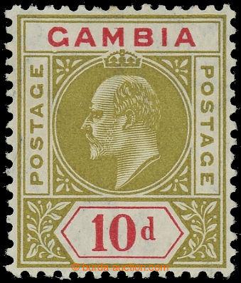 225405 - 1904-1906 SG.66a, Eduard VII. 10P olivová s DV - Dented fra