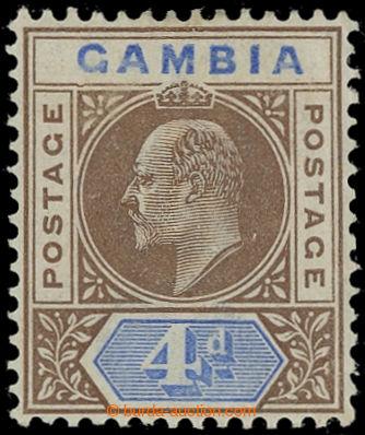225406 - 1902-1902 SG.50a, Eduard VII. 4P hnědá s DV - Dented frame