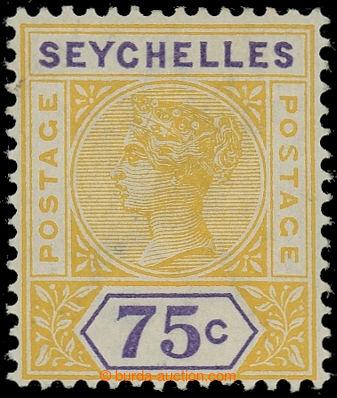 225415 - 1897-1900 SG.33a, Viktorie 72C žlutá / fialová s DV - rep