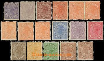 225420 - 1895-1896 sestava 17 zn. emisí Viktorie z rozmezí SG.171 -