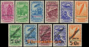 225444 - 1938-1941 Edifil 7-12, 17-21, přetiskové Dobročinné 5Ct