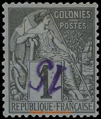 225486 - 1890-1891 Mi.1a K, Yv.1a, Alegorie 15C/1C s převráceným f