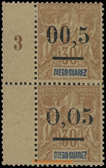 225487 - 1902 Yv.59-59C, přetisková Alegorie 30C, svislá krajová