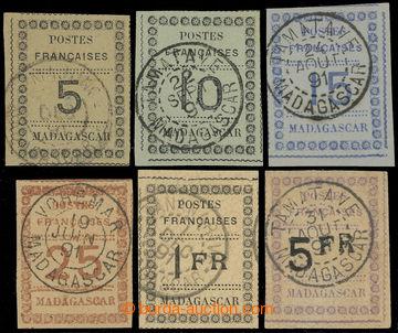 225490 - 1891 Mi.8-13, POSTES FRANCAISE MADAGASCAR 5C - 5Fr; kompletn