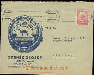 22551 - 1942 firemní dopis s přítiskem firmy Z.Zloský Praha CAME