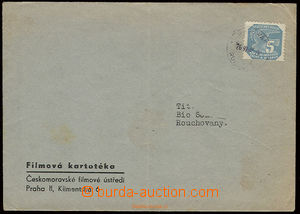 22552 - 1943 commercial envelope franked with. newspaper (!) stamp.