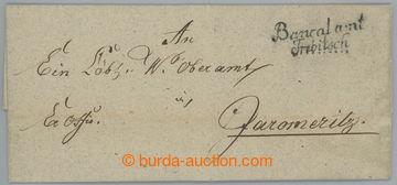 225564 - 1827 ČESKÉ ZEMĚ / skládaný přebal dopisu s dvojřádko