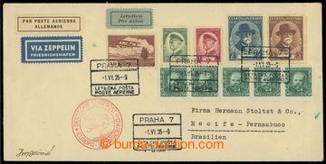 225607 - 1935 ZEPPELIN / 5. SÜDAMERIKA FAHRT 1935,  Let-dopis do Bra