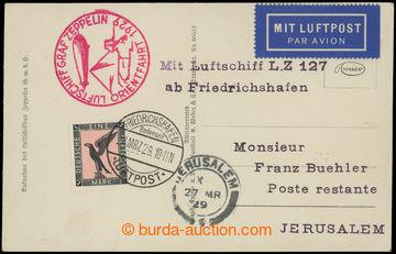 225641 - 1929 ORIENTFAHRT 1929 / Sie.23f; pohlednice Zeppelin v letu,
