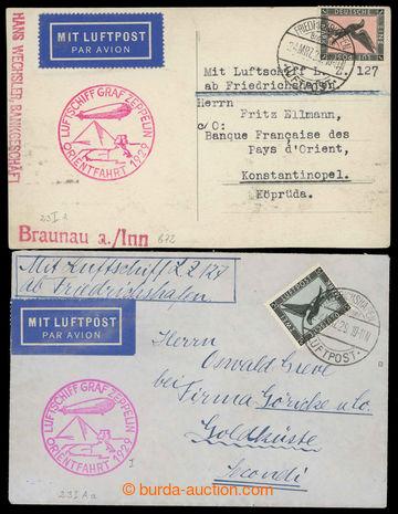 225644 - 1929 ORIENTFAHRT 1929, Sie.23A; pohlednice a dopis, s Mi.382