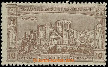 225669 - 1896 Mi.107, I. Olympijské hry 10Dr hnědá; bezvadná konc