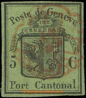 225682 - 1846 ŽENEVA (GENF) Mi.6, Znak 5C Velký orel; drobná repar