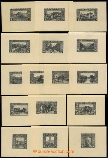 225683 - 1906 Ferch.29-44, Krajinky 1h-5K, komplet řada ZT v černé