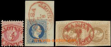 225684 - 1867 Ferch.37-39, pro Uhersko Ferch.III, IV, V;  FJ I. 5Kr,