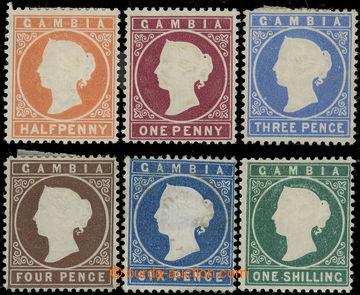 225693 - 1880-1881 SG.10B-20B, 6 hodnot ze série Viktorie (De La Rue