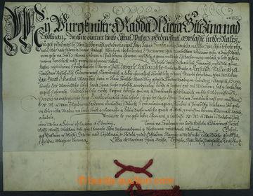 225766 - 1652 ČESKÉ KRÁLOVSTVÍ / MĚSTO JIČÍN / pergamenová li