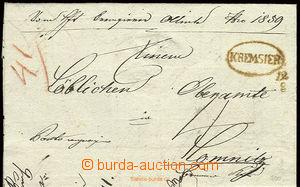 22579 - 1841 skládaný předznámkový dopis s oválným razítkem