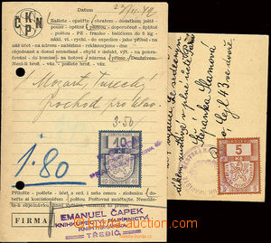 22581 - 1939-42 BOHEMIA-MORAVIA  comp. 2 pcs of franked with. cards