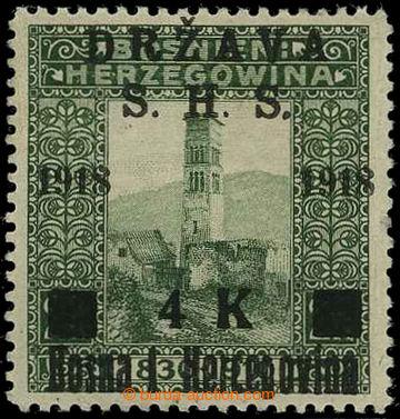 225813 - 1918 VYDÁNÍ PRO BOSNU A HERZEGOVINU / NEVYDANÁ Mi.46Avar,