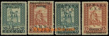 225816 - 1918 VYDÁNÍ PRO BOSNU A HERZEGOVINU / Mi.19I, 20II, 19II K