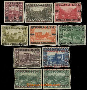 225821 - 1918 VYDÁNÍ PRO BOSNU A HERZEGOVINU / specializovaná sest