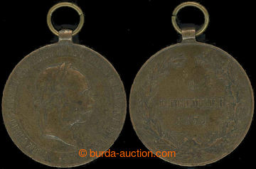 225842 - 1873 Válečná medaile 2. December 1873,  Franz Jozeph I.,