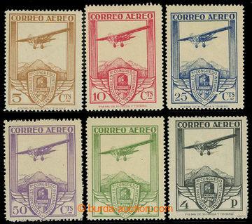 225847 - 1930 Mi.457-462, Letecké 5C - 4Pta; kompletní série, levn