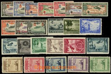 225848 - 1927-1930 Mi.422-426, 554-560a, 560b, 561, letecké Výstava
