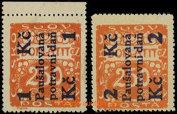 225867 - 1925-1929 Pof.PD3-4, Potravní daň 1Kč a 2Kč na doplatní