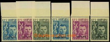 225888 - 1962 Mi,647-649a+b, letecké Gagarin 0,50L - 11L, dvě séri