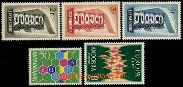 225891 - 1956-1972 EUROPA / Lucembursko Mi.555-557 + Lichtenštejnsko