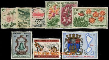 225894 - 1947-1974 Mi.368-370, 393-395, 474-475, 499, sestava sérií