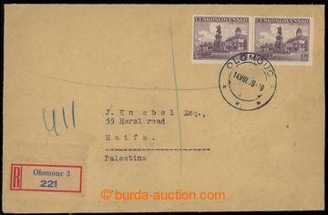 225901 - 1939 2x těžší R-dopis zaslaný do Palestiny (!), vyfr. 2