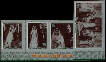 225906 - 1972 Mi.340-343, Stříbrná svatba 5C - 30C NEZOUBKOVANÉ k
