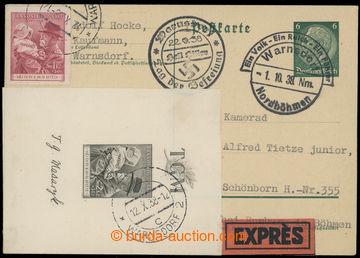 225999 - 1938 německá dopisnice zaslaná Ex z Varnsdorfu do Studán