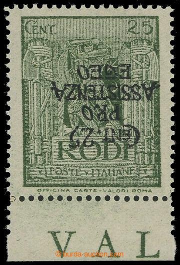 226029 - 1943 RHODOS - německá okupace, Sass.121a, výplatní 25C z