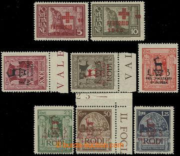 226030 - 1944-1945 RHODOS - německá okupace, Sass.126-133, 2 komple