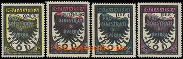 226031 - 1944 RHODOS - německá okupace, Sass. POSTA AEREA 56-59, Zn