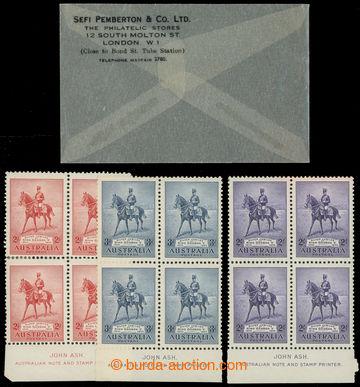 226045 - 1935 SG.156-158, 4-bloky Silver Jubilee 2P-2Sh s printer inp