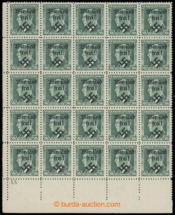 226051 - 1938 RUMBURG / Mi.7, 7PF I, Beneš 50h zelená, levý dolní