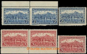 226053 - 1926 Pof.225-226, Praha 2Kč a 3Kč, 2x 2-páska + samostatn