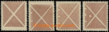 226059 - 1858 ONDŘEJSKÝ KŘÍŽ / ANK.14AK; 4 Ondřejské kříže