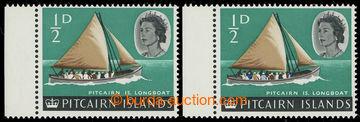 226091 - 1964 SG.36, 36a, Alžběta II. Longboat 1/2P, normální zn�