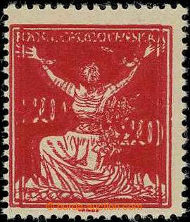 226155 -  Pof.151A VV, 20h červená, HZ 14, dvojitý tisk; svěží