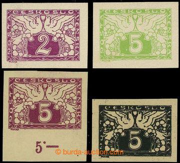 226157 - 1919 ZT  Spěšné 2h a 5h, sestava 4ks zkusmých tisků, ob