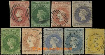 226198 - 1855-1860 SG.2, 5, 9, 10 aj; Viktorie (Perkins Bacon) 2P ros