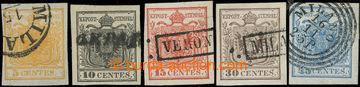 226202 - 1850 Ferch.1HI-5HI, Znak 5Cts-45Cts; krásná série I. typ�