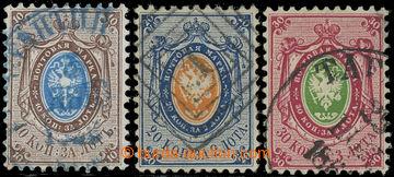 226237 - 1858 Mi.5-7, Znak 10K - 30K; vybrané kusy, kat. 420€