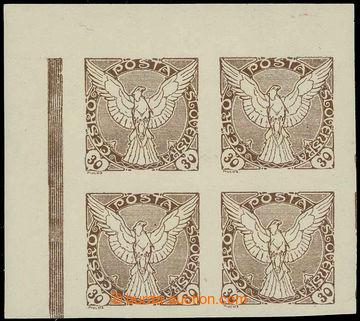 226242 - 1918 Pof.NV6ST, Sokol v letu 30h hnědá, levý horní rohov